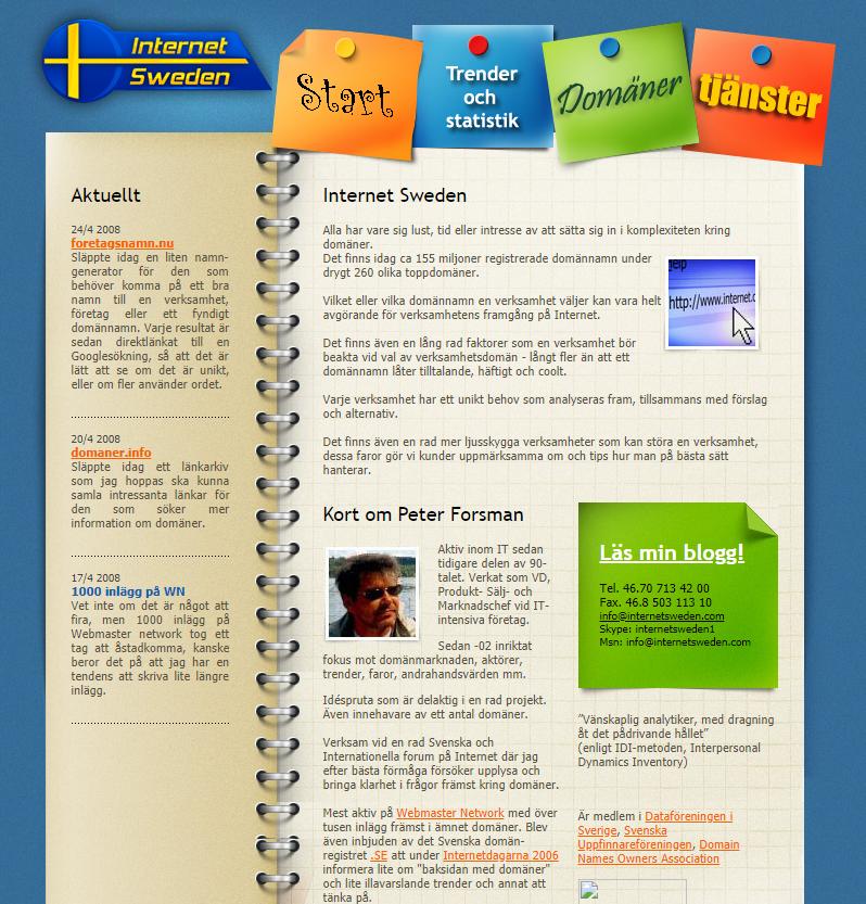 Om-sidan för internetsweden.se 2008
